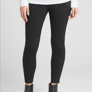 NWT Maternity Full Panel Moto Zip Legging in Ponte